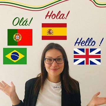 Aktívne vyučovanie španielčiny, portugalčiny a angličtiny