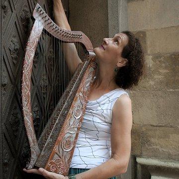 Výuka hry na háčikové harfy, klavír a spev.